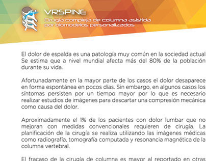 folletos proyecto VRSpine