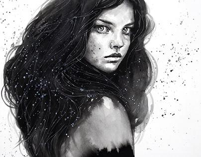 Black&white surreal paintings