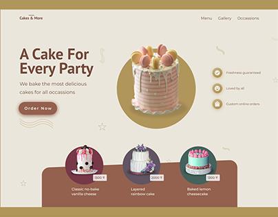 Cake Shop web header concept