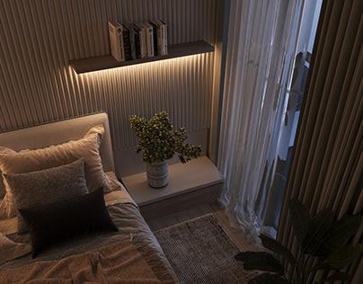 Light Modern Bedroom - Private Villa