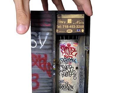 Diorama NY Door 1:18 scale.