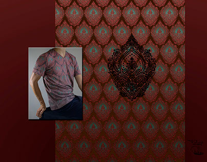 Ogee Ombre Textile print and T-shirt application