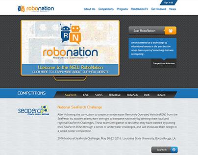 Robonation Website Design and Dev