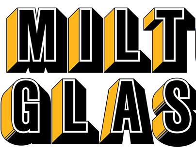 Milton Glaser Babyfat Font Revival