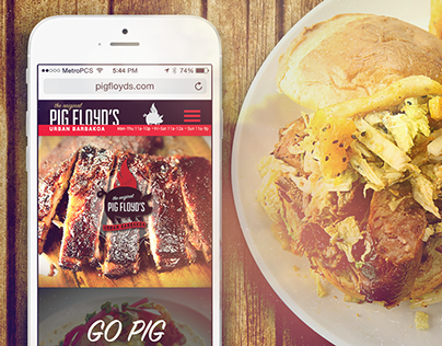 Pig Floyds Urban Barbakoa | Web Design