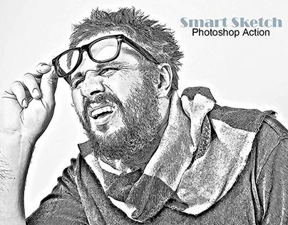 Smart Sketch Photoshop Action