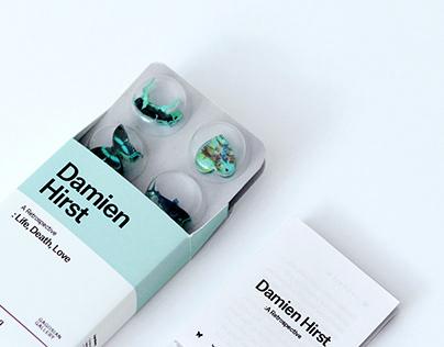 Exhibition invitation for Damien Hirst