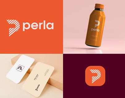 perla logo   full Branding   stationery design