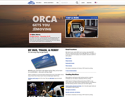 ORCA card web site for City of Seattle