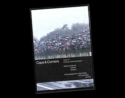 Caps & Corners: Typographic Exploration Editorial