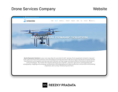 Drone Website Design
