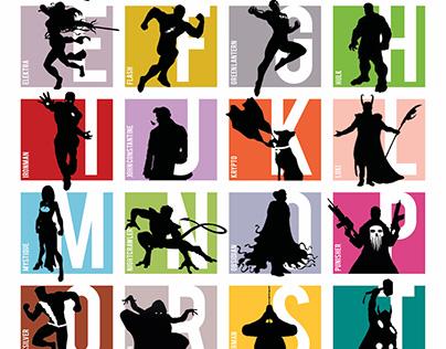 """Superheroes"" Alphabet Poster"