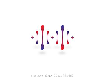 Human DNA Sculpture (logo)