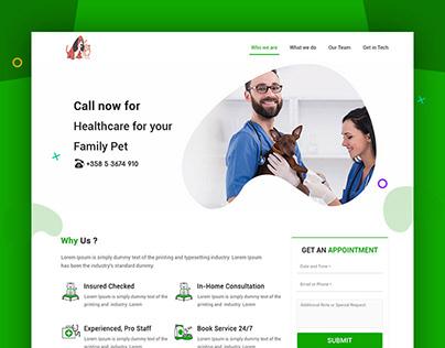 Website Design For Pet Doctors Veterinary Clinics