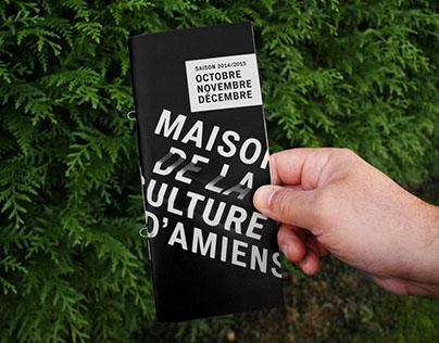 Identité visuelle pour Maison de la culture d'Amiens