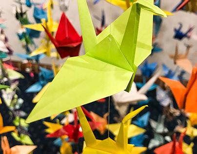 Origami Art Installation