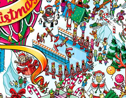 2018 Christmas Illustration for Washington Post