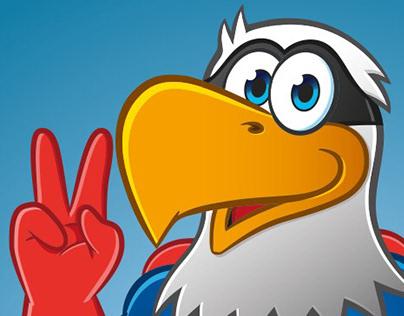 Eagle Mascot Character