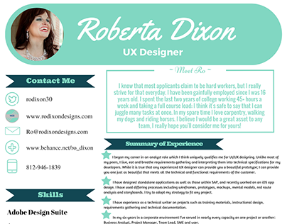 UI_UX Designer Resume created in CANVA