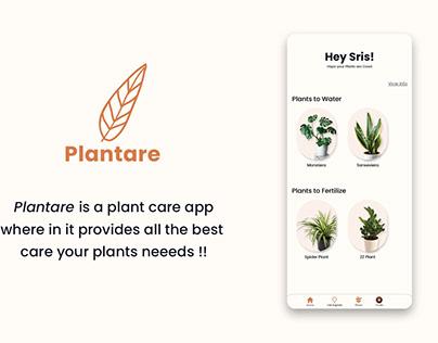Plantare App : XD Creative Challenge