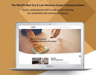 Dry Cleaner Website UI Design