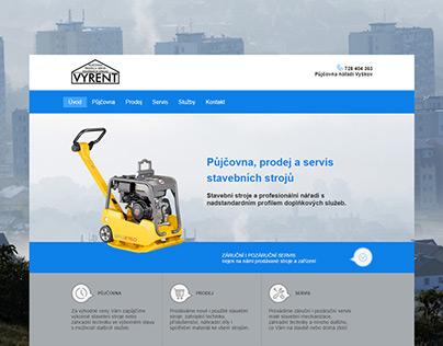 Webové stránky pro půjčovnu stavebních strojů Vyškov