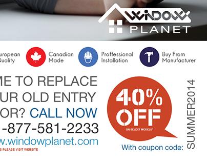 A flyer for windowplanet.com