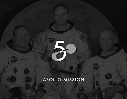 Logo 50th Anniversary Apollo Mission