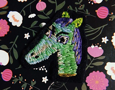 hand embroidery horse