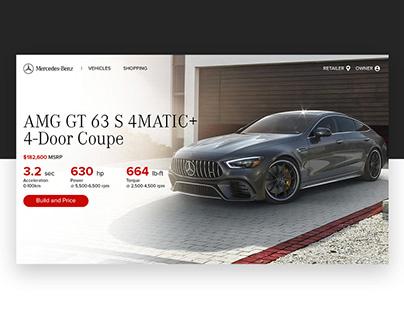 Mercedes-Benz Landing Page