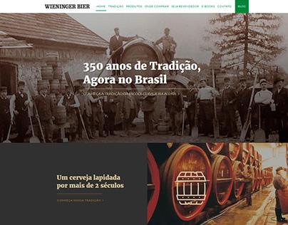 UI / UX :: Website :: Wieninger Bier / Brazil