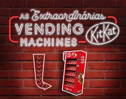 As Extraordinárias Vending Machines KITKAT