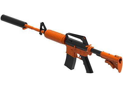 M4A1-S Weapon 3D