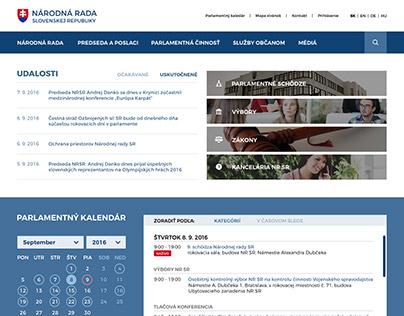 Redizajn webu pre Národnú radu Slovenskej republiky