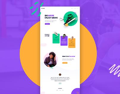 Simple Landing Page Ui Design