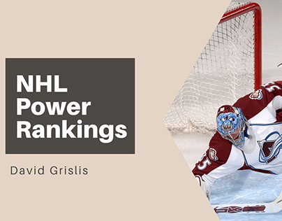 David Grislis | NHL Power Rankings