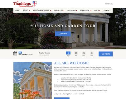 St. Thaddeus website design