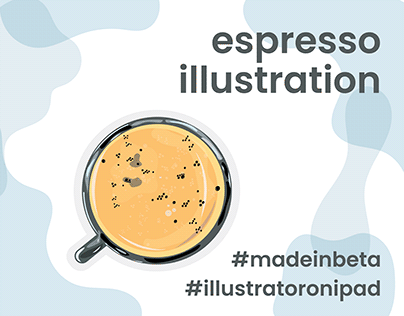 Espresso Illustration - Poster Print Design