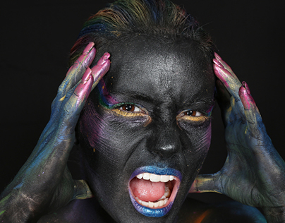 Paint It Black Body Paint Photoshoot