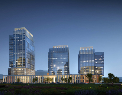 Business centre in Astana/ Orynbor street