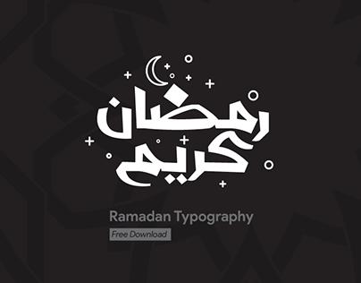 Ramadan Kreem Typography Free Download