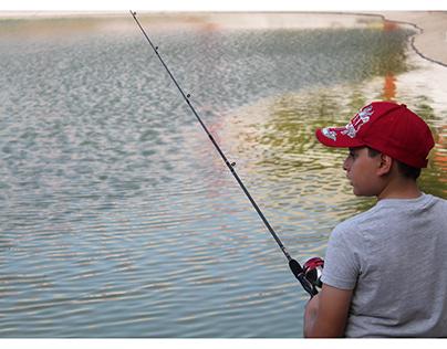 Fotografía niño/pesca