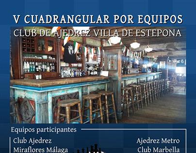Cartel V Cuadrangular Club Ajedrez Villa Estepona