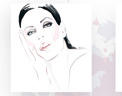Fashion Illustrations in David Downton style