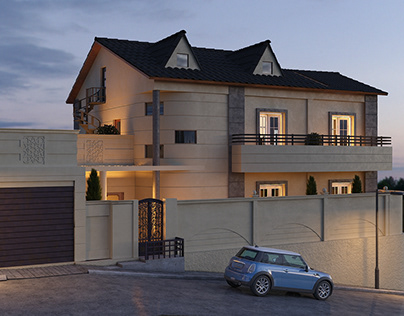 house : 3Ds Max-Vray