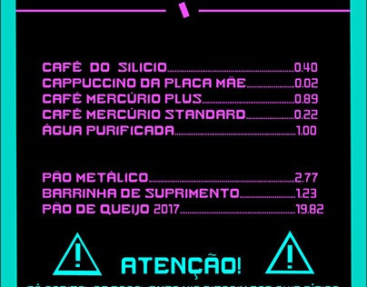 Cardápio Cafeteria - CyberCafe