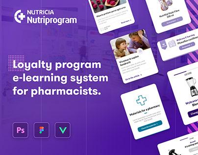 Nutriprogram: E-learning for pharmacists UX/UI