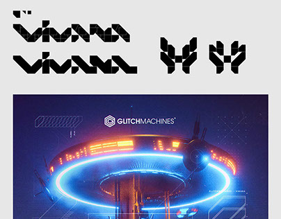Glitchmachines Vimana ID / Logotype.