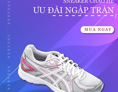 banner shoes design
