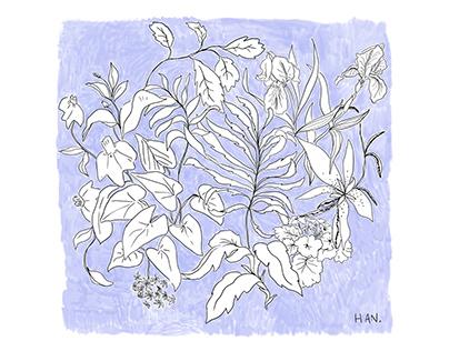 Floral romantic artwork